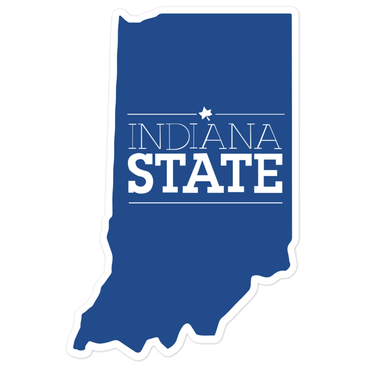 Indiana State Sycamores NCAA Logo Sticker