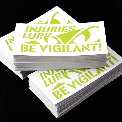 EMCOR Be Vigilant Custom Rectangle Stickers