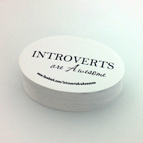 Introverts Are Awesome Custom Oval Stickers