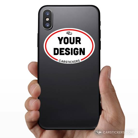 Oval Sticker Phone