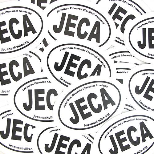 JECA Custom Oval Stickers