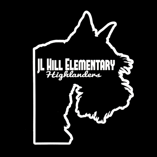 JL Hill Elementary Highlanders Custom Die Cut Stickers