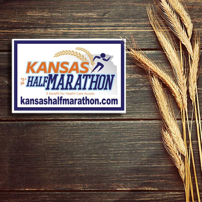 Kansas Half Marathon Rectangle Stickers