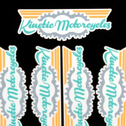 Kinetic Motorcycles Custom Die Cut Stickers