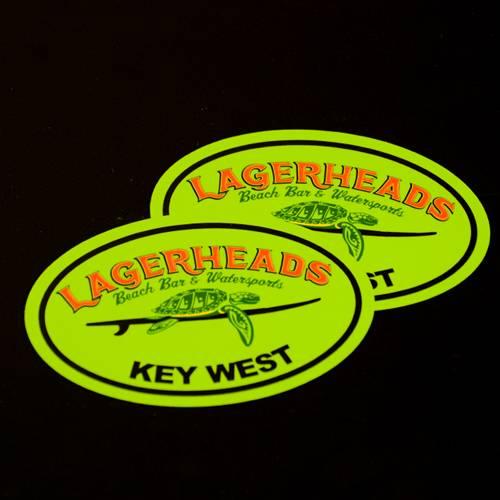 Lagerheads Oval Sticker