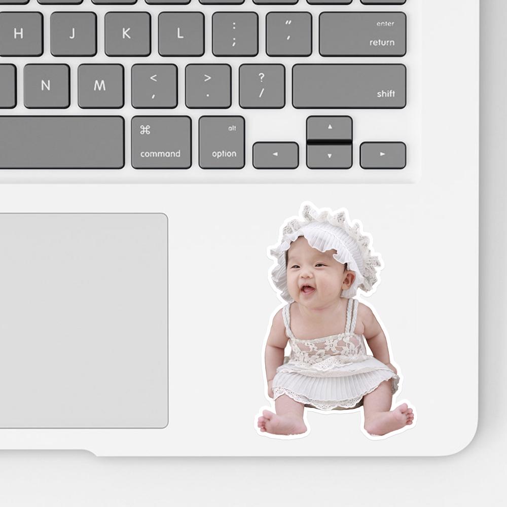 Laptop Baby Photo Sticker