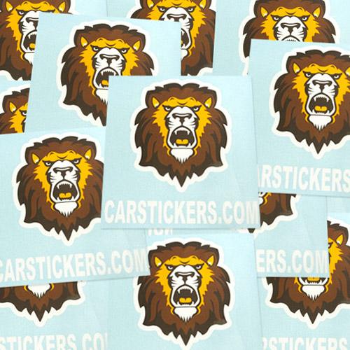 Lion Pattern Multi Color Cut-Out Sticker