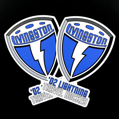 Livingston Hockey Custom Die Cut Stickers