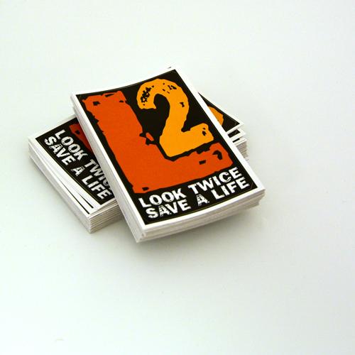 Look Twice, Save A Life Program Custom Rectangle Stickers