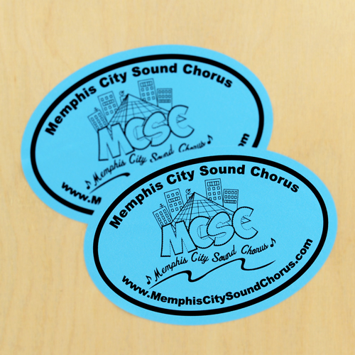 Memphis City Sound Chorus Custom Oval Stickers