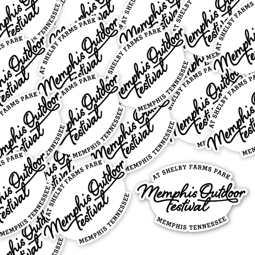 Memphis Outdoor Festival Custom Die Cut Stickers