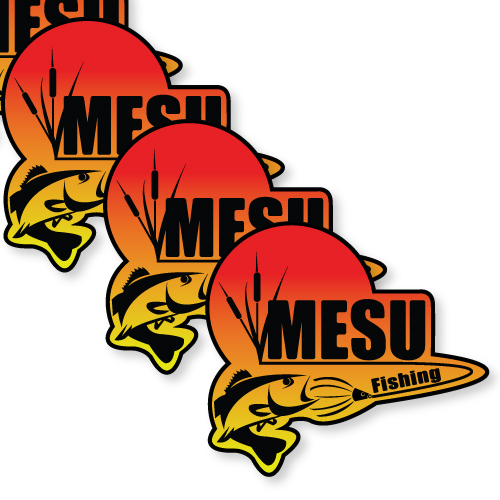 MESU Bait Company Custom Die Cut Stickers