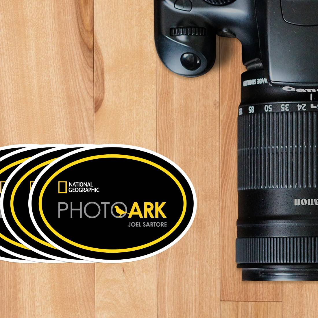 Photo Ark Oval Cling Stickers