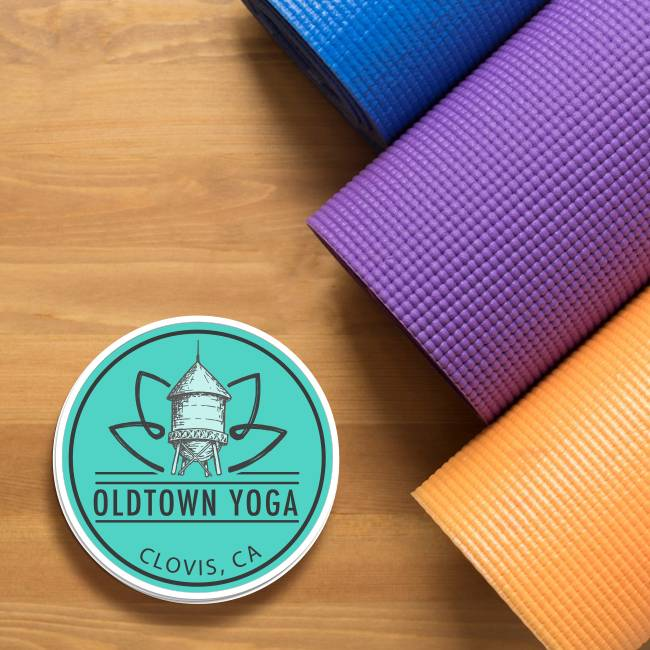 Old Town Yoga Circle Stickers