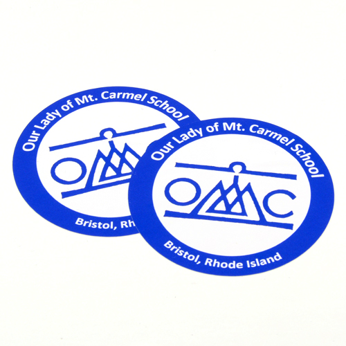Our Lady of Mt. Carmel School Custom Circle Stickers