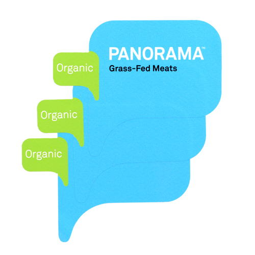 Panorama Grass-Fed Meats Custom Die Cut Stickers