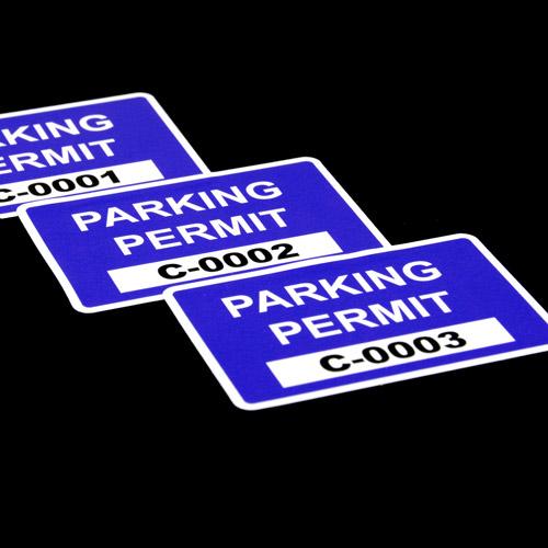 Custom Rectangle Parking Permits