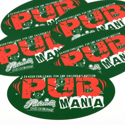 Patrick's Pub Custom Oval Stickers
