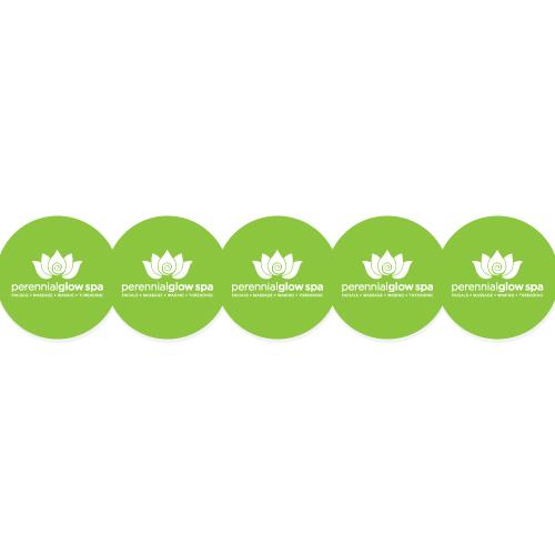 Perennial Glow Spa Custom Circle Stickers