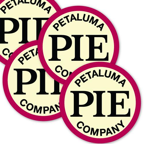 Petaluma Pie Company Custom Circle Stickers