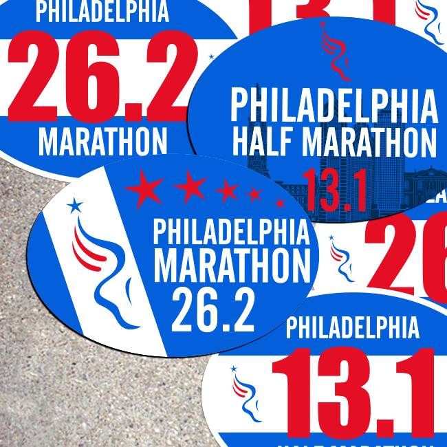 Philadelphia Marathon Stickers & Magnets