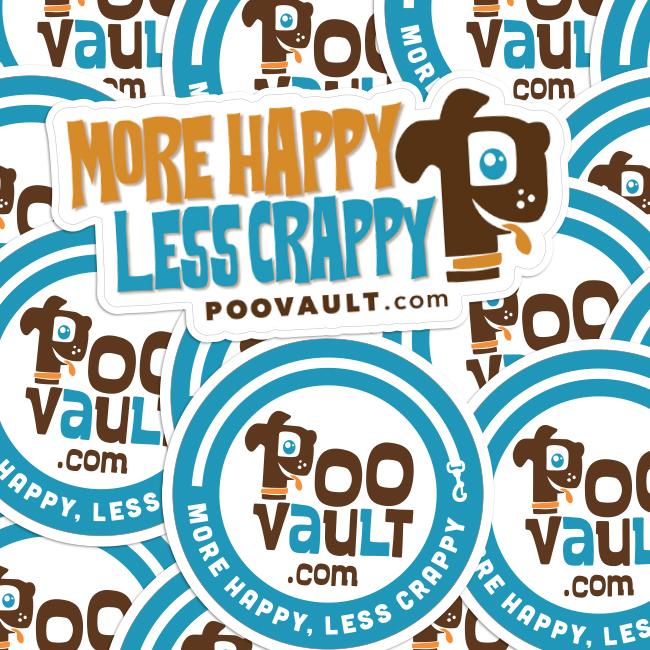 Poo Vault Die Cut Stickers