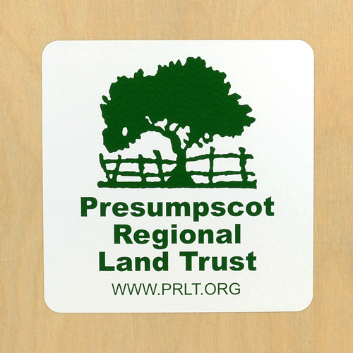 Presumpscot Regional Land Trust Custom Rounded Rectangle Stickers