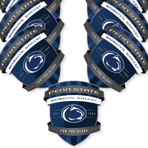 Penn State Soccer Custom Die Cut Stickers