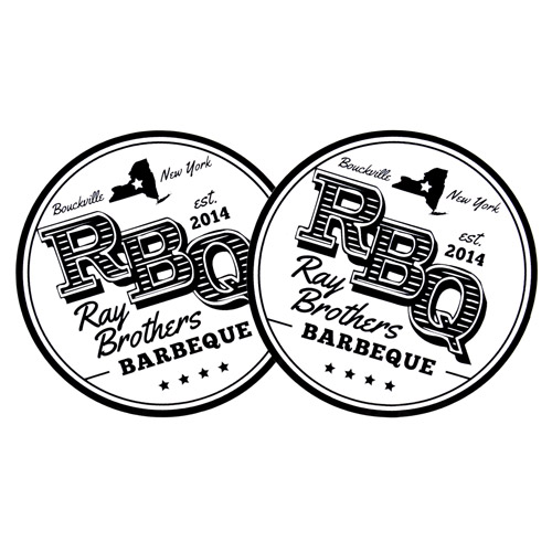 Ray Brothers BBQ Custom Circle Stickers