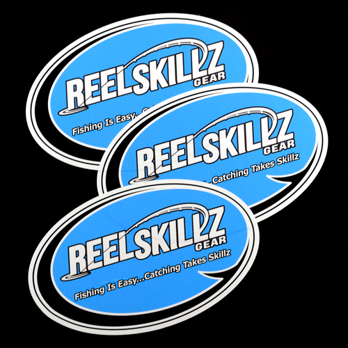 Reel Skillz Gear Custom Oval Stickers