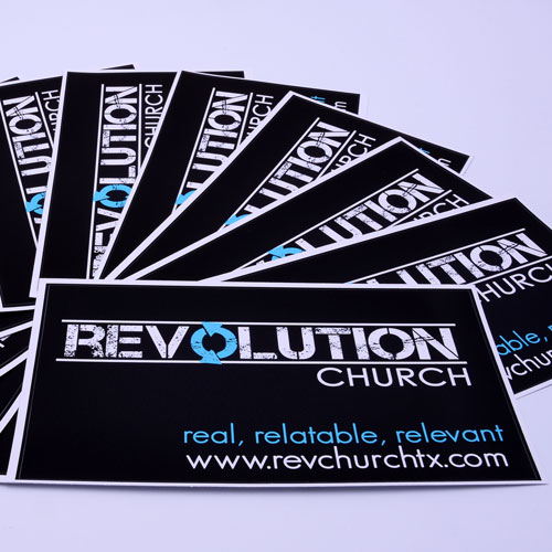 Revolution Church Custom Rectangle Stickers