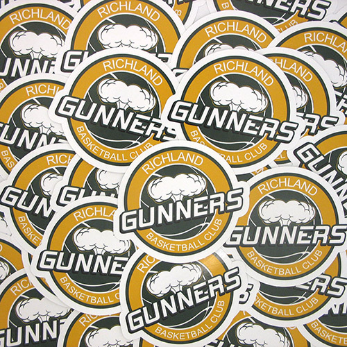 Richland Gunners Custom Die Cut Stickers