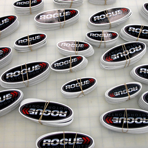 Rogue Custom Oval Stickers