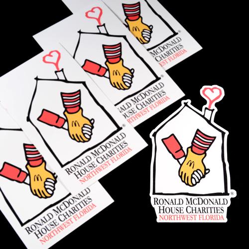 Ronald McDonald House Charities Custom Die Cut Stickers