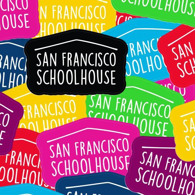 San Francisco Schoolhouse Die Cut Stickers