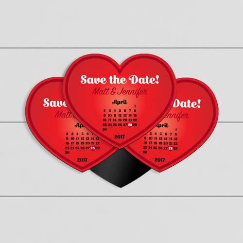 Save the Date Custom Heart Magnet