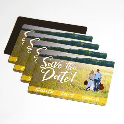 Save the Date Custom Rounded Rectangle Magnet
