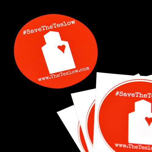 Save The Teslow Circle Stickers