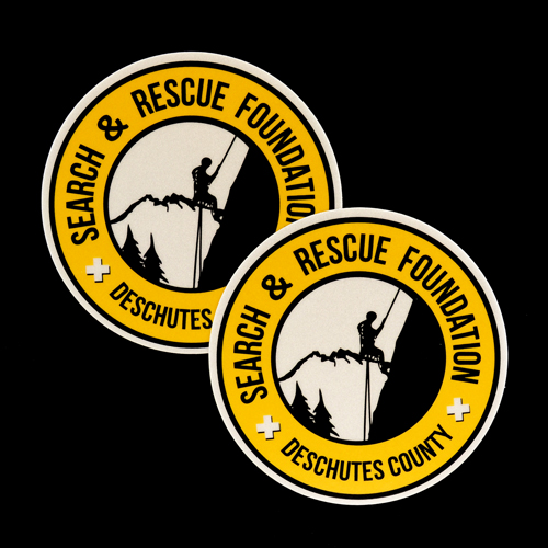 Deschutes County Search & Rescue Custom Circle Stickers