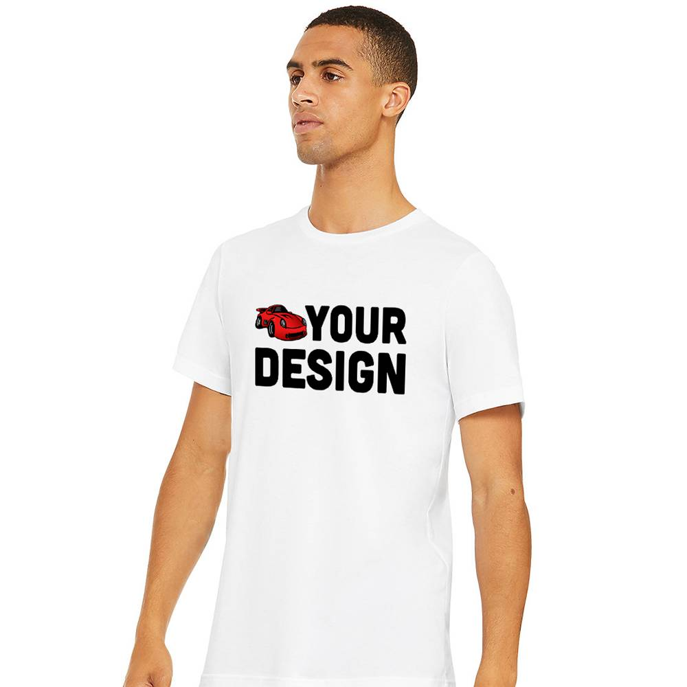 Mens White Short Sleeve T-Shirt Example