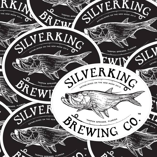 Silverking Brewing Co. Oval Stickers
