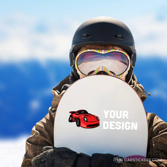 Snowboard MC Transfer Sticker