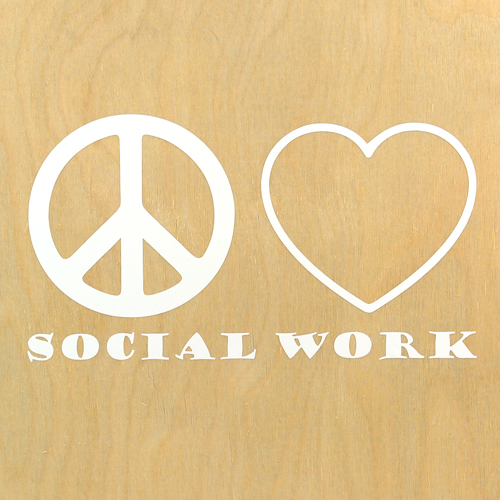 Peace Love Social Work Custom Cut Out Stickers