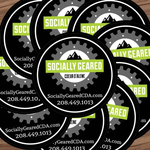 Socially Geared Custom Circle Stickers