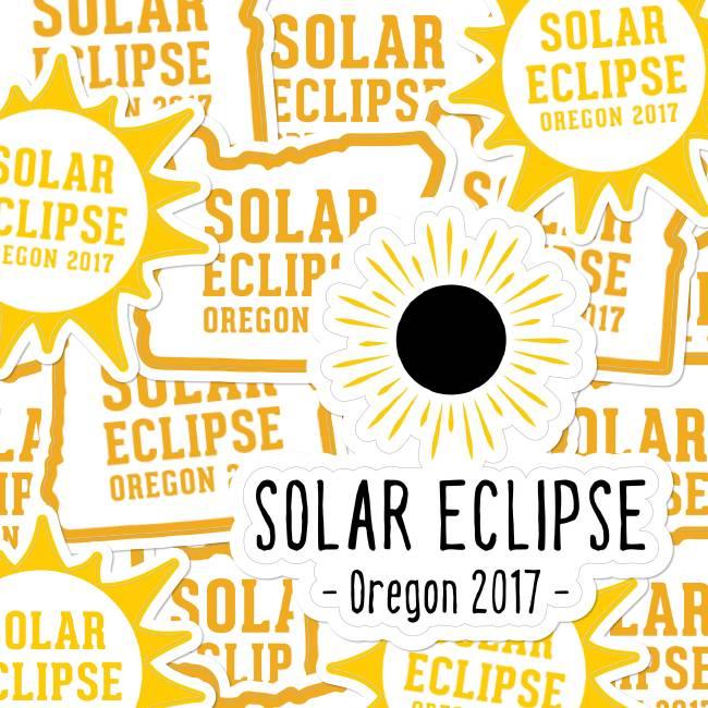 Solar Eclipse Die Cut Stickers