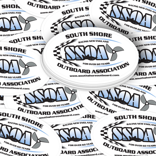 South Shore Outboard Custom Oval Stickers