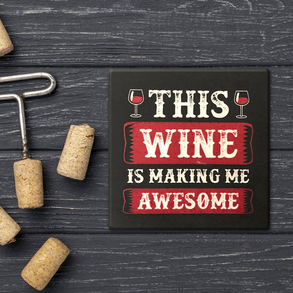 Wine Square Coaster