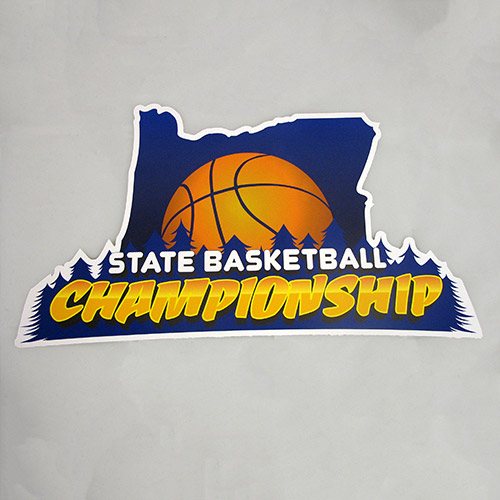 State Basketball Championships Custom Die Cut Stickers