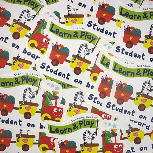 Student on Board Custom Die Cut Stickers