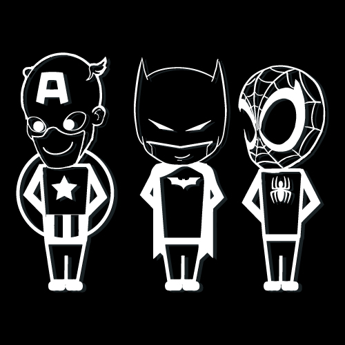 Super Hero Illustration Custom Cut Out Sticker